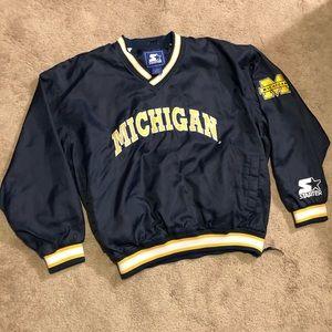 Vintage Starter Michigan Wolverines Pullover